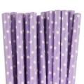 Purple Mini Spots Paper Straws