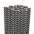 Black Chevron Paper Straws